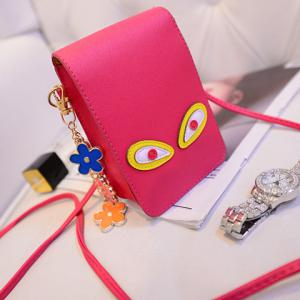 Cute PU Leather and Solid Colour Design Crossbody Bag For Women -