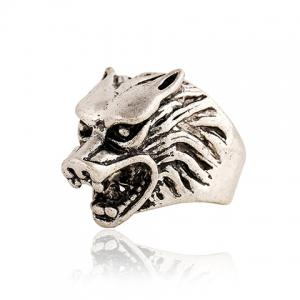 Punk Style Wolf Head Shape Ring For Men