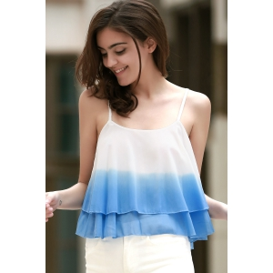 Stylish Cami Ombre Color Women's Tank Top -