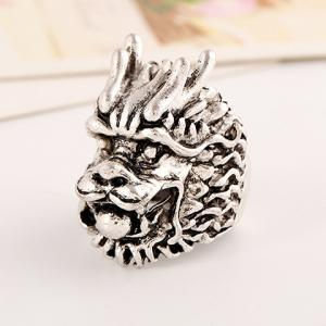 Punk Style Dragon Head Shape Ring For Men - SILVER ONE-SIZE