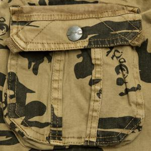 Multi-Pocket Loose Fit Straight Leg Zipper Fly Camo Cargo Shorts For Men -