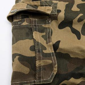 Camo Print Multi-Pocket Loose Fit Straight Leg Zipper Fly Cargo Shorts For Men - CAMOUFLAGE 30
