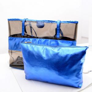 Stylish Splicing and Transparent Plastic Design Shoulder Bag For Women -