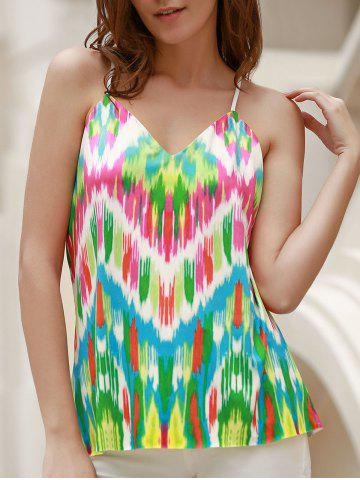 Outfits Sexy Spaghetti Strap Colorful Racerback Tank Top For Women GREEN S