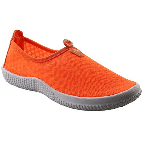 Online Simple Solid Color and Slip-On Design Sneakers For Women