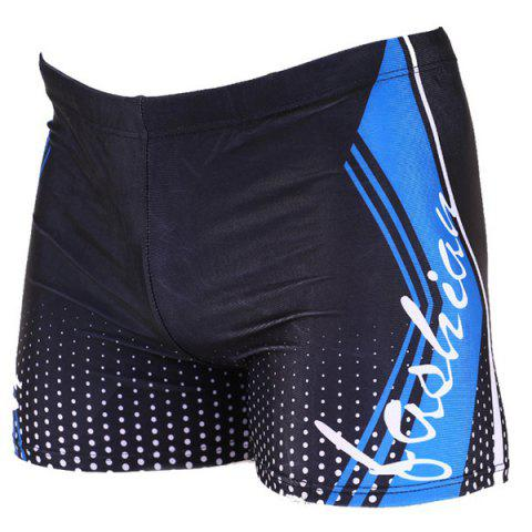 Outfits Letter Printing Elastic Waist Men's Boxers Swimming Trunks