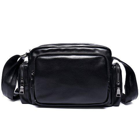 Hot Leisure PU Leather and Zippers Design Messenger Bag For Men