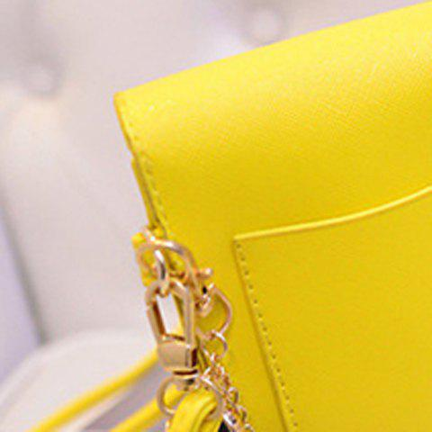 Buy Cute PU Leather and Solid Colour Design Crossbody Bag For Women - YELLOW  Mobile