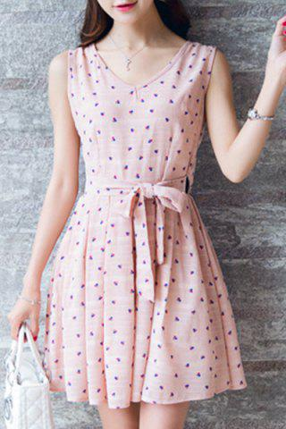 Shops Sweet Polka Dot Pleated Dress For Women