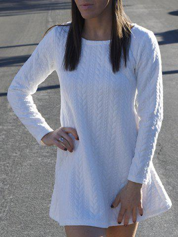 New Long Sleeve Mini Skater Sweater Dress