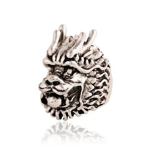 Shop Punk Style Dragon Head Shape Ring For Men SILVER ONE-SIZE