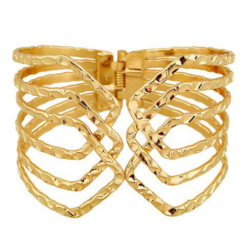 Outfits Hollow Out Cuff Bracelet GOLDEN