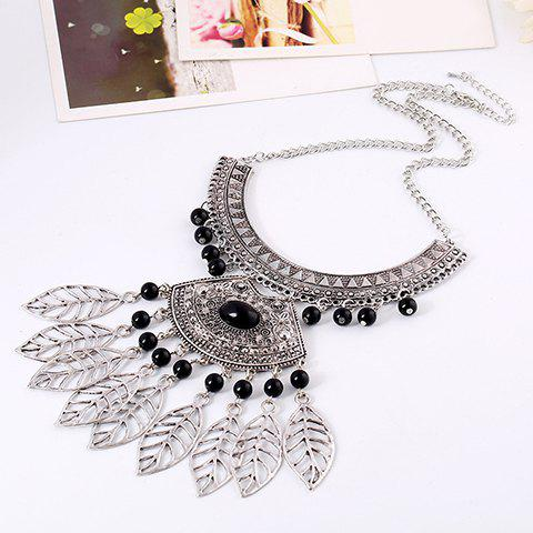 Buy Vintage Leaf Hollow Out Beads Necklace