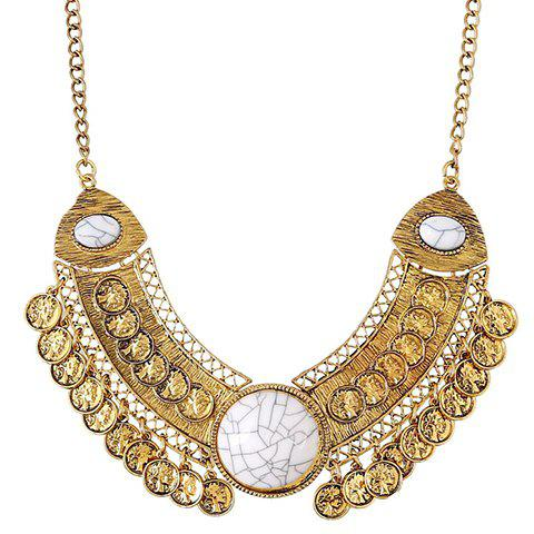 Shop Vintage Coin Hollow Out Necklace For Women