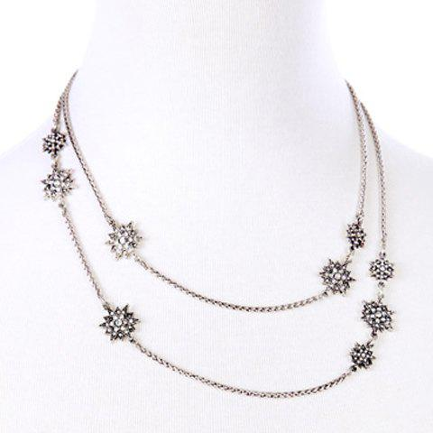 Fancy Chic Floral Rhinestone Necklace For Women