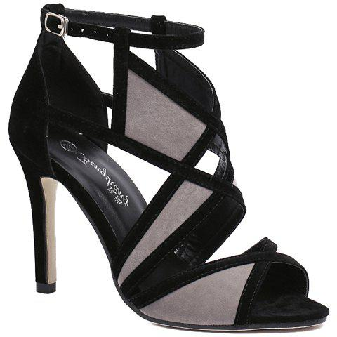 New Stylish Colour Block and Flock Design Sandals For Women