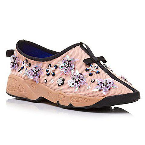 Hot Trendy Flowers and Slip-On Design Sneakers For Women