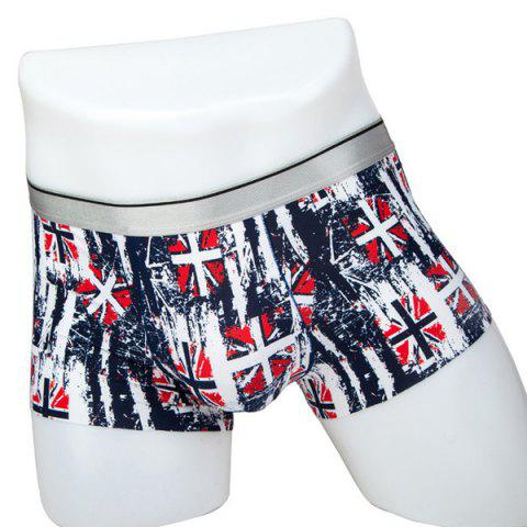 Outfits Elastic Waist Flag Print Comfortable Boxer Brief For Men