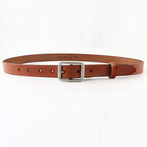 Unique Chic Metal Pin Buckle Simple PU Belt For Women
