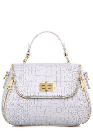 Best Retro Hasp and Crocodile Print Design Tote Bag For Women