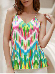 Sexy Spaghetti Strap Colorful Racerback Tank Top For Women