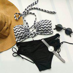 Sexy Halter Zigzag Bikini Set For Women -