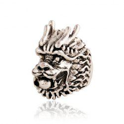 Style Punk Dragon Head Ring Shape For Men - Argent