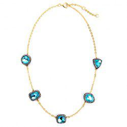 Gorgeous Rhinestone Faux Crystal Necklace For Women -