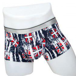 Elastic Waist Flag Print Comfortable Boxer Brief For Men -