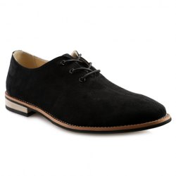 Stylish Lace-Up and Suede Design Casual Shoes For Men -