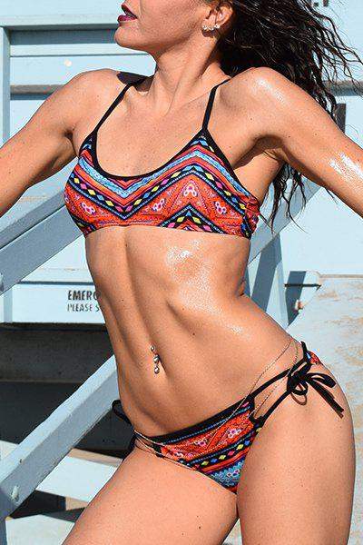 Best Ethnic Printed Strappy Bohemian Bikini Set