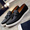 Concise Solid Colour and PU Leather Design Casual Shoes For Men -
