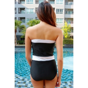 Strapless Bandeau One Piece Swimsuit -