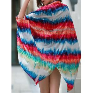 Colorful Beach Kimono Cover Up