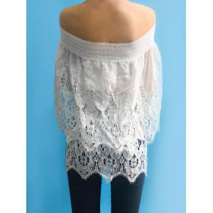 Women's Stylish Off The Shoulder Lace 3/4 Sleeve Cover-Up -