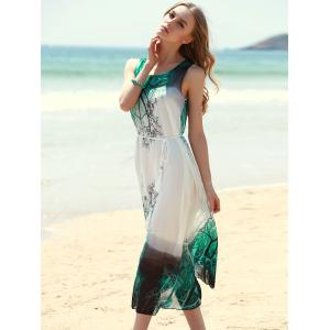 Bohemian Style Sleeveless Printed Women's Dress -