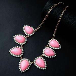 Vintage Rhinestone Water Drop Necklace For Women -