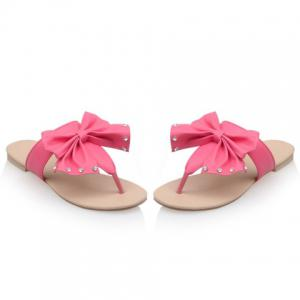 Sweet Bow and Rhinestones Design Slippers For Women -