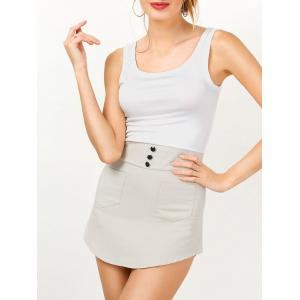 Sleeveless Two Tone Mini Bodycon Sundress