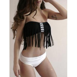 Stylish Halter Fringed Bikini Set For Women -