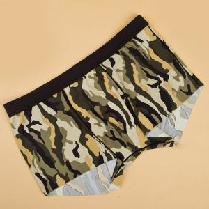Elastic Waist Camouflage Print Comfortable Boxer Brief For Men -