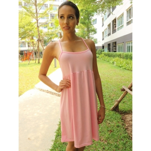 Sexy Spaghetti Strap Solid Color Backless Beachwear For Women -