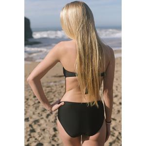 Alluring  Hollow Out Solid Color Women's Bikini Set -