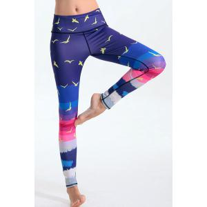 Elastic Waist Hit Color Leggings -