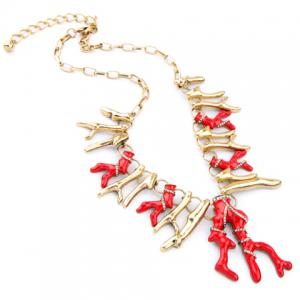 Graceful Exaggerated Branch Shape Necklace For Women -