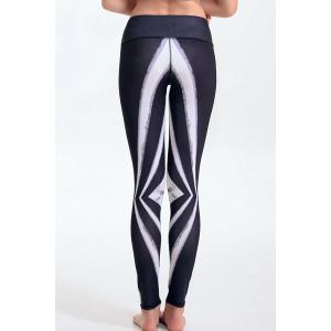 Women's Stylish Elastic Waist Hit Color Leggings -