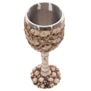 High Quality 400ML 3D Skull Pattern Stainless Steel Goblet Cup -