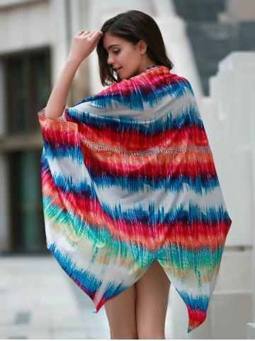 Outfit Colorful Beach Kimono Cover Up - ONE SIZE(FIT SIZE XS TO M) COLORMIX Mobile