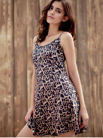 Hot Stylish Spaghetti Strap Leopard Print Sundress For Women - S LEOPARD Mobile