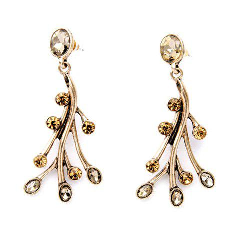Shop Pair of Vintage Faux Crystal Branch Earrings